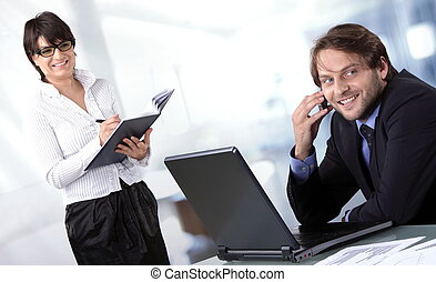 人々, 微笑, 2, ビジネス