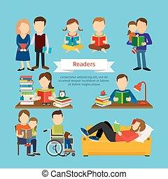 人々, 本, 雑誌, 特徴, 読書, ∥あるいは∥