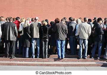 人々, 監視, でき事, ∥において∥, kremlin の壁, ∥あるいは∥, あなた, 缶, 使用, これ, 群集,...