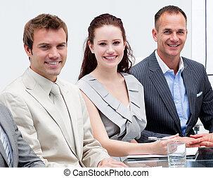 人々, 肖像画, ビジネスが会合する, モデル