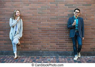 人々, 若い, アイスクリーム
