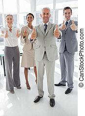 人々, 親指, ビジネス, グループ, 諦める