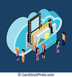 人々, 雲, 計算, 貯蔵