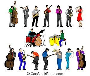 人々, 音楽, ほんの少し, 道具