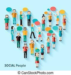 人々, avatars, ピクセル