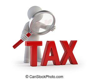 人々, lupe, -, 税, 小さい, 3d