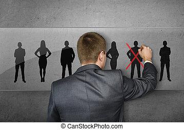 人々, sihlouettes, 交差点, 1(人・つ), ビジネスマン, 図画, 赤