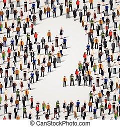 人々2, 数, form., 2, グループ, 大きい