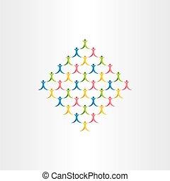 人们的组, 人群, 矢量, 图标, 设计, 符号