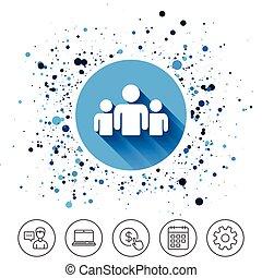 人们的组, 签署, icon., 共享, 符号。