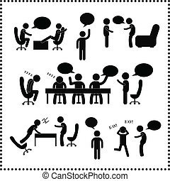人们谈话, 符号