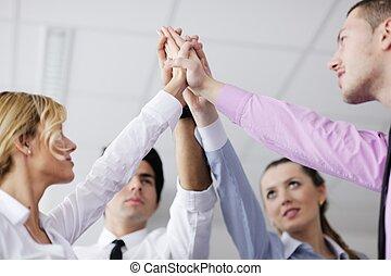 人们, 加入, 团体, 商业手