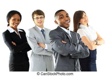 人们。, 团体, team., 商业
