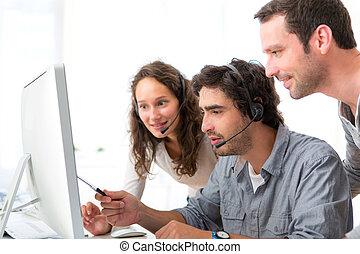 人們的組, 工作, 大約, a, 電腦