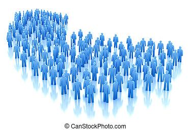 人們, 人群, 概念, 被隔离