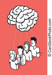 人們, 分享, 他們, 頭腦