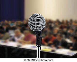 人們, 參加, 討論會