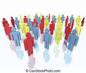 人們, -, 商業組, 概念