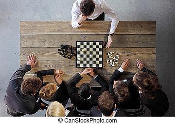 人們, 國際象棋, 事務, 玩