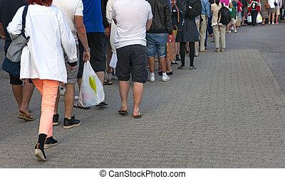 人們, 等待 在 線