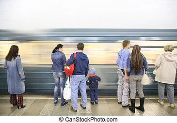 人們, 等待, 地鐵