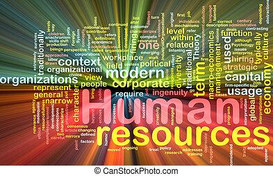 人力資源, 背景, 概念, 發光