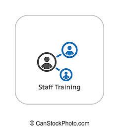 人員, 訓練, icon., 事務, concept., 套間, design.