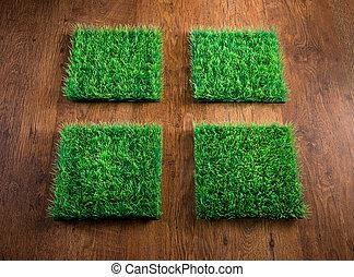 人工的草皮, 瓦片