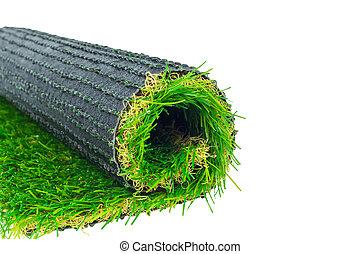 人工的草皮, 綠色的草, 捲