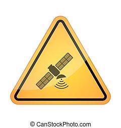 人工衛星, アイコン, シグナル, 危険