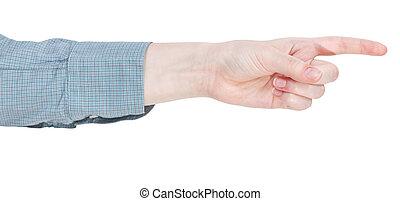 人差し指, -, 指すこと, ジェスチャー, 手