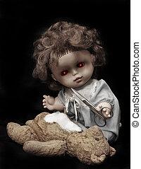 人形, シリーズ, キラー, -, 暗い, 型