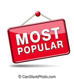 人気が高い, ほとんど, 印