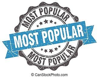 人気が高い, ほとんど, 印。, stamp., シール