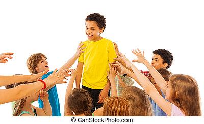 人気が高い, クラス, ほとんど, 子供