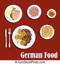 人気が高い, ドイツ語, 国民, 皿, 料理