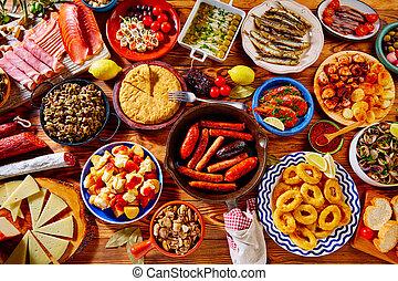 人気が高い, 混合, スペイン, tapas, ほとんど
