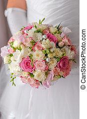人物面部影像逼真, 花束, 婚禮
