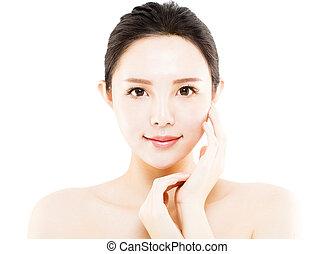 人物面部影像逼真, 被隔离, 臉, 白色, 婦女, 年輕