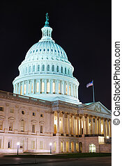 人物面部影像逼真, dc, 建築物, 州議會大廈, 華盛頓, 小山