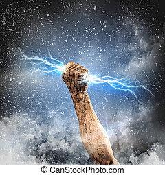 人的手, 藏品, 閃電