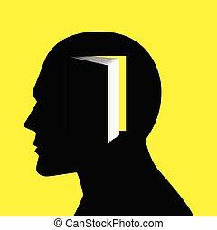 人的 頭, 由于, 書