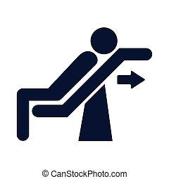 人类, 椅子, 侧面影象, 斜倚