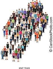 人群, ......的, 人們, 概念