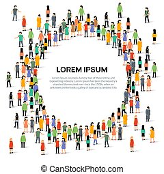 人群, 网絡, 組, 人們, 大, 矢量, 隊, 人, 社會, 通訊, 一起