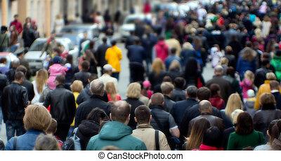 人群, 街道