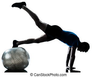 人行使, 測驗, 健身 球, 姿勢