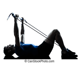 人行使, gymstick, 測驗, 健身, 姿勢