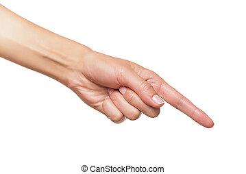 人間, ポイント, 手, 指