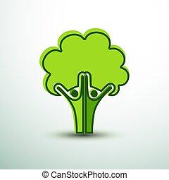 人間, 木